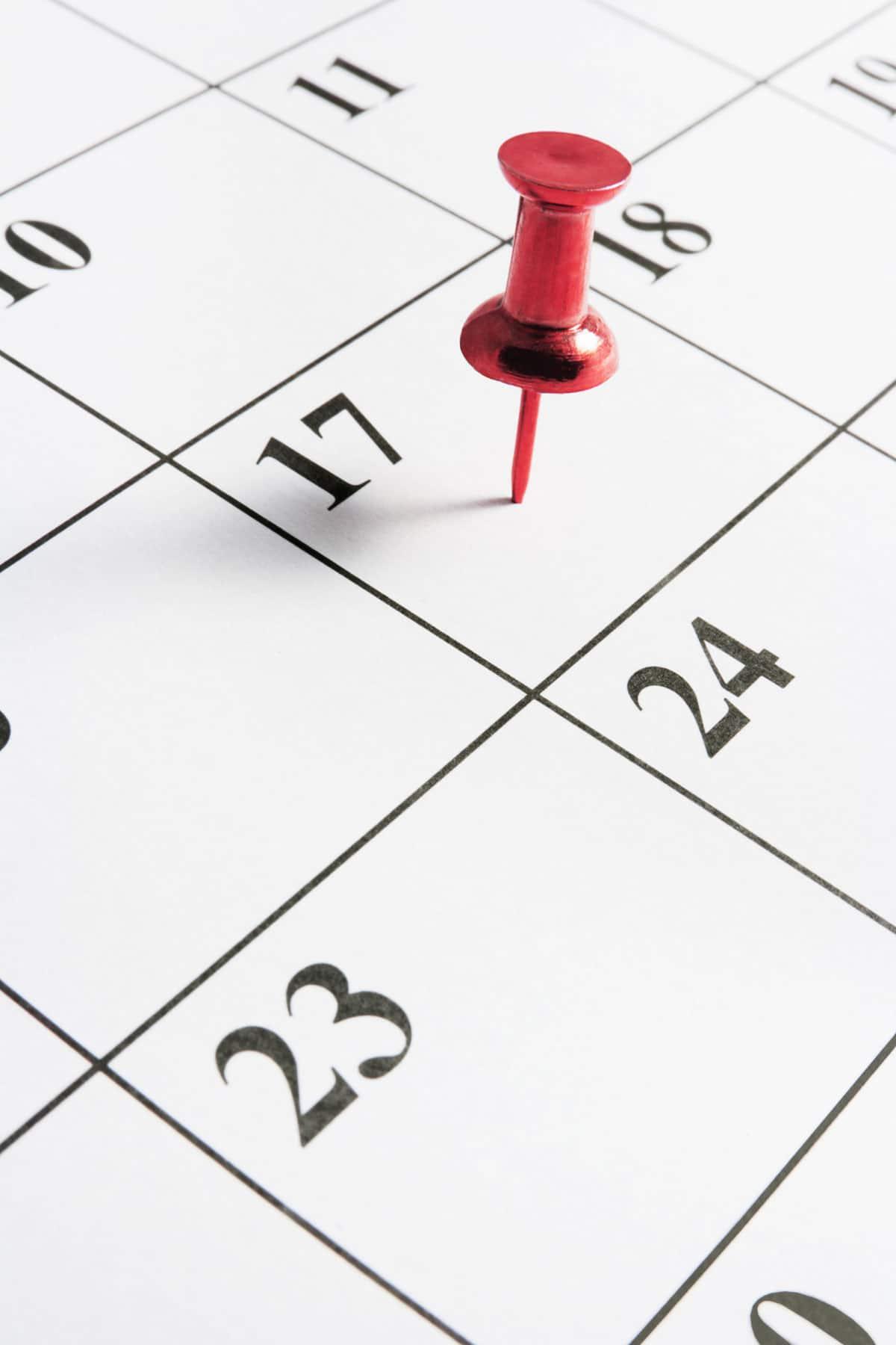 date d'échéance annuelle du contrat