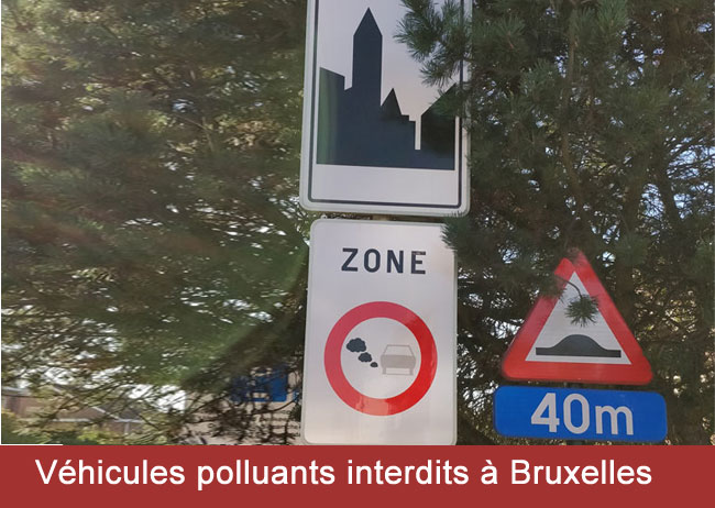 les véhicules polluants interdits à Bruxelles