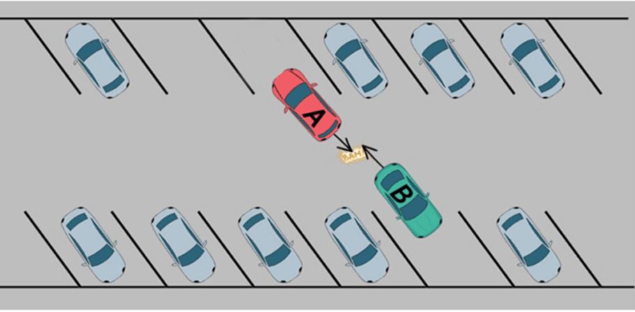 Accident suite à une manoeuvres simultanées