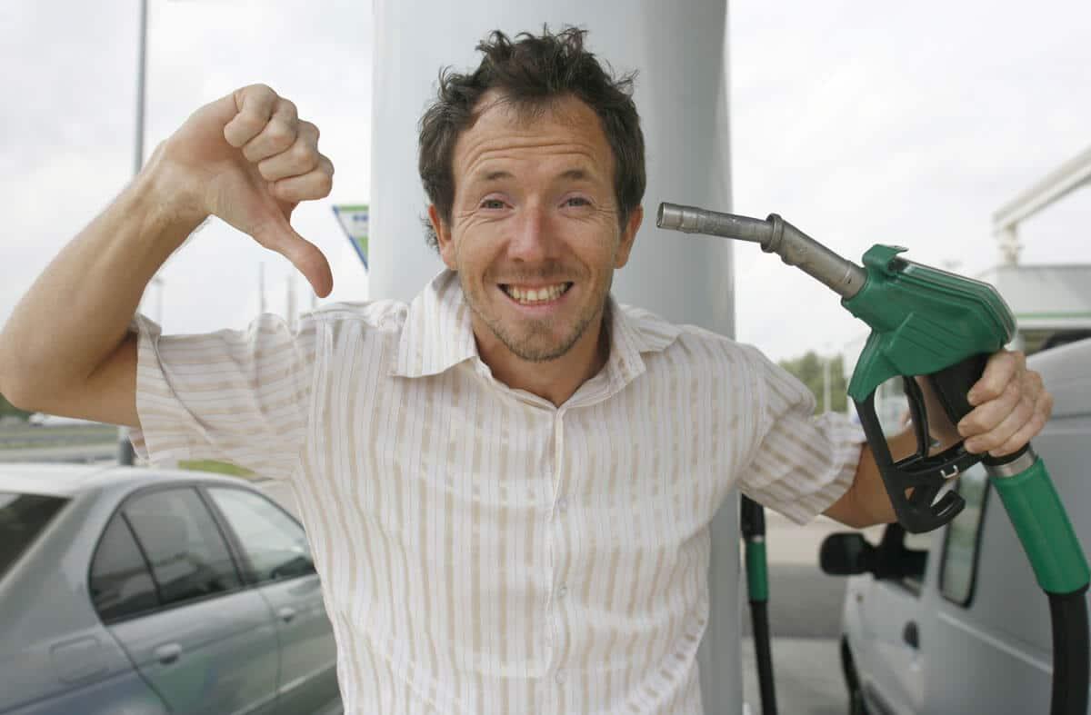 Réservoir avec le mauvais carburants