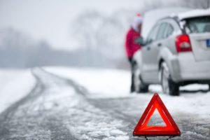 panne auto hiver, triangle de sécurité