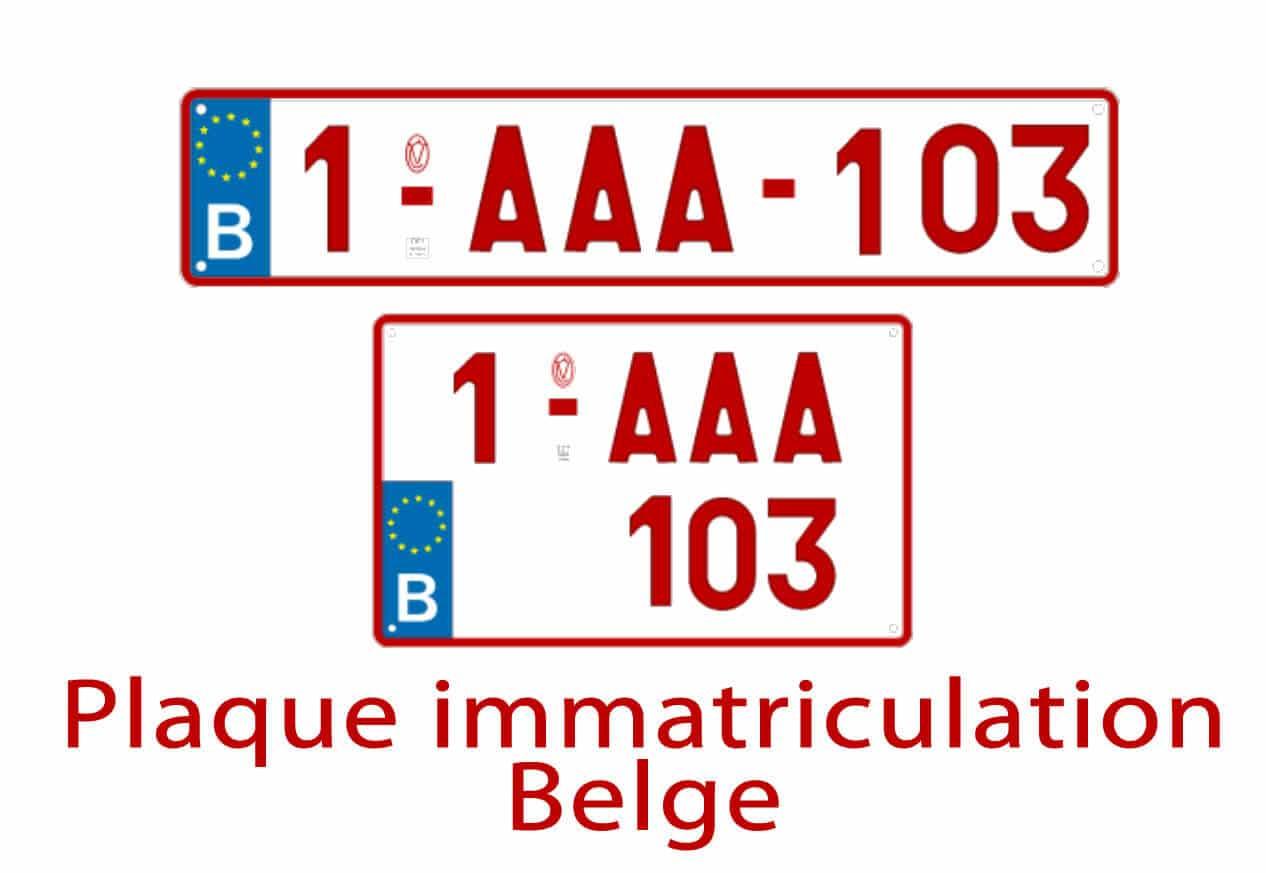 plaque d'immatriculation belge