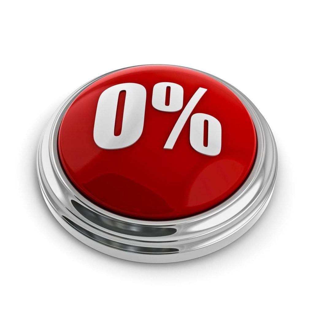Taux d'intérêt à 0% pour une voiture